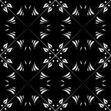 Vector BLACK WHITE SEAMLESS PATTERN DESIGN. Black and white Seamless Repeating Vector Pattern. Elegant Design in Baroque Style Background Texture. Black and Stock Photo