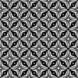 Vector Black and White seamless pattern design Stock Photos