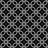 Vector Black and White seamless pattern design Stock Images