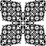 Vector BLACK WHITE SEAMLESS PATTERN DESIGN. Black and white Seamless Repeating Vector Pattern. Elegant Design in Baroque Style Background Texture. Black and Royalty Free Stock Images