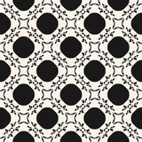 Vector black & white seamless pattern in oriental style, arabesq. Vector monochrome ornament, seamless pattern in oriental style. Mesh illustration with floral Vector Illustration