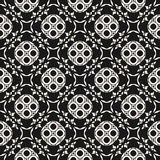 Vector black & white seamless pattern in oriental style, arabesq Stock Photo