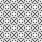 Vector Black White seamless retro abstract pattern Stock Photo