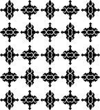 Vector Black White seamless retro abstract pattern Royalty Free Stock Images