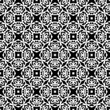 Vector Black White seamless retro abstract pattern Stock Image