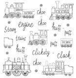 Vector black and white set of retro engines vector illustration