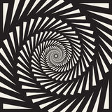 Vector Black and White Spiral Triangles Swirl Abstract Optical Illusion Royalty Free Stock Images