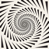 Vector Black and White Spiral Triangles Swirl Abstract Optical Illusion Royalty Free Stock Image