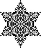 Vector Black and white star pattern background, vector illustration. For printing or various backgrounds for designing and wallpapers Royalty Free Stock Images