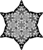 Vector Black and white star pattern background, vector illustration. For printing or various backgrounds for designing and wallpapers Stock Image