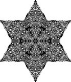 Vector Black and white star pattern background, vector illustration. For printing or various backgrounds for designing and wallpapers Royalty Free Stock Image