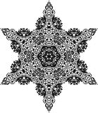 Vector Black and white star pattern background, vector illustration. For printing or various backgrounds for designing and wallpapers Stock Images