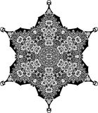 Vector Black and white star pattern background, vector illustration. For printing or various backgrounds for designing and wallpapers Royalty Free Stock Photography