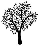 vector black and white tree Royalty Free Stock Photo