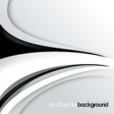 Vector black and white wave concept background Royalty Free Stock Photography