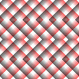 Vector Black and White Woven Background. British Plaid Ornament Royalty Free Stock Images