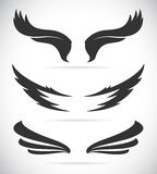 Vector black wing icons set Stock Photo