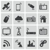 Vector black wireless icons Stock Photos