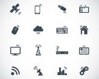 Vector black wireless icons Royalty Free Stock Images