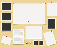Vector blackboard with office supplies. Stock Images