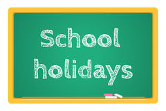 Vector blackboard stationery school holidays Royalty Free Stock Image