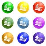 Vector blanco del sistema de los iconos de la casa libre illustration