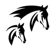 Vector blanco y negro de la cabeza de caballo Fotos de archivo libres de regalías