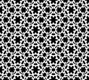 Vector blanco y negro del modelo de la repetición e imagen de fondo inconsútil foto de archivo