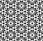 Vector blanco y negro del modelo de la repetición e imagen de fondo inconsútil fotos de archivo
