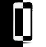 Vector blanco y negro del teléfono móvil del concepto Fotografía de archivo