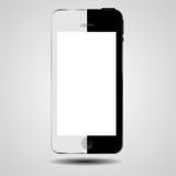 Vector blanco y negro del teléfono móvil del concepto Fotografía de archivo libre de regalías