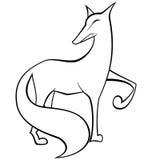Vector blanco y negro del zorro Imagen de archivo libre de regalías