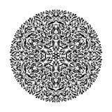 Vector blanco y negro monocromático del ornamento del cordón Foto de archivo libre de regalías