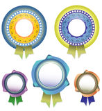 Vector blank Awards with ribbon Stock Photo