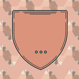 Vector of blank badge. Close-up of blank badge vector Royalty Free Stock Photography
