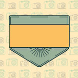 Vector of blank badge. Close-up of blank badge vector Royalty Free Stock Photos