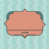 Vector of blank badge. Close-up of blank badge vector Stock Photo