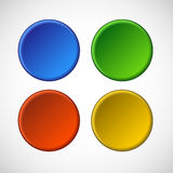 Vector blank badge template illustration. In four colors Royalty Free Stock Photos
