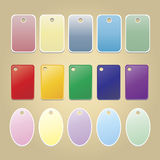 Vector blank badges. multicolor set. Round and rectangular Vector Illustration