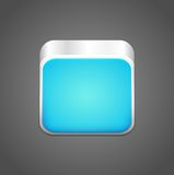 Vector blank blue app icon Stock Photography