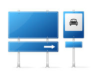 Vector Blank Blue Road Sign Stock Photo