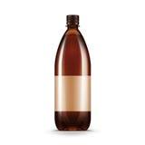 Vector Blank Brown Plastic Water Beer Kvass Bottle Royalty Free Stock Photos
