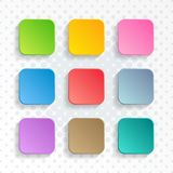 Vector blank colorful rounded square web buttons royalty free illustration