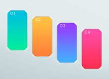 Vector Blank Colourful Paper Frames Steps 1 to 4 Royalty Free Stock Photo