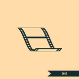 Vector blank film strip icon. Vector blank film strip stock  icon illustration Stock Photography