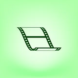 Vector blank film strip icon. Vector blank film strip stock  icon illustration Stock Image