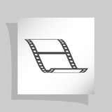 Vector blank film strip icon. Vector blank film strip stock  icon illustration Royalty Free Stock Image
