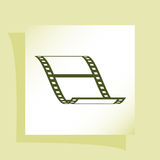Vector blank film strip icon. Vector blank film strip stock  icon illustration Royalty Free Stock Photography
