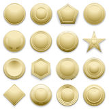 Vector blank gold labels set Royalty Free Stock Images