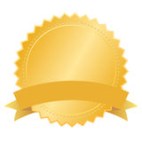Vector blank gold seal Royalty Free Stock Photos